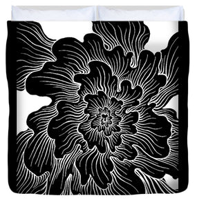 Static Thought Flower - Duvet Cover