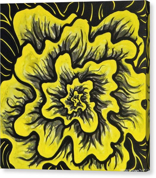 Dynamic Thought Flower #3 - Canvas Print