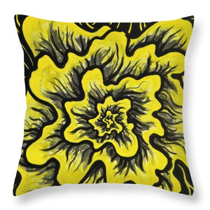 Dynamic Thought Flower #3 - Throw Pillow