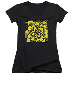 Dynamic Thought Flower #3 - Women's V-Neck (Athletic Fit)