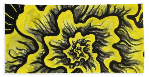 Dynamic Thought Flower #3 - Bath Towel