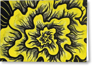 Dynamic Thought Flower #3 - Greeting Card