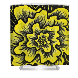 Dynamic Thought Flower #3 - Shower Curtain