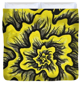 Dynamic Thought Flower #3 - Duvet Cover