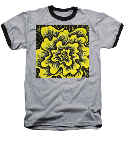 Dynamic Thought Flower #3 - Baseball T-Shirt