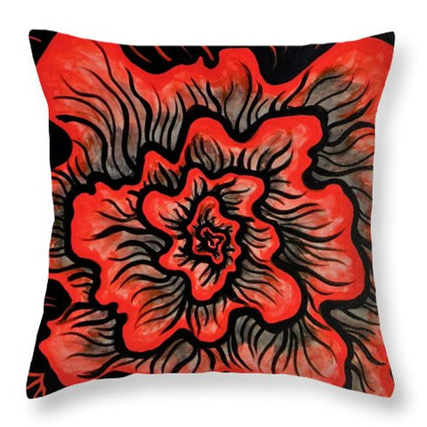 Dynamic Thought Flower #5 - Throw Pillow
