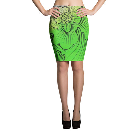 Dynamic Thought Flower # 5 - Pencil Skirt