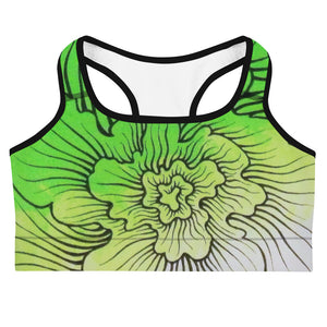 Dynamic Thought Flower # 5 - Sports bra