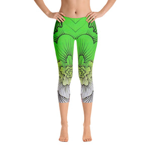 Dynamic Thought Flower # 5 - Capri Leggings