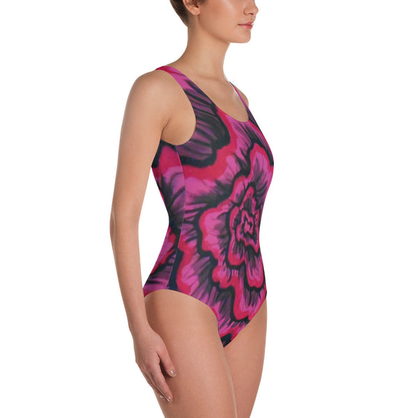 Dynamic Thought Flower # 3 - One-Piece Swimsuit