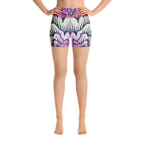 Dynamic Thought Flower #2 - Yoga Shorts