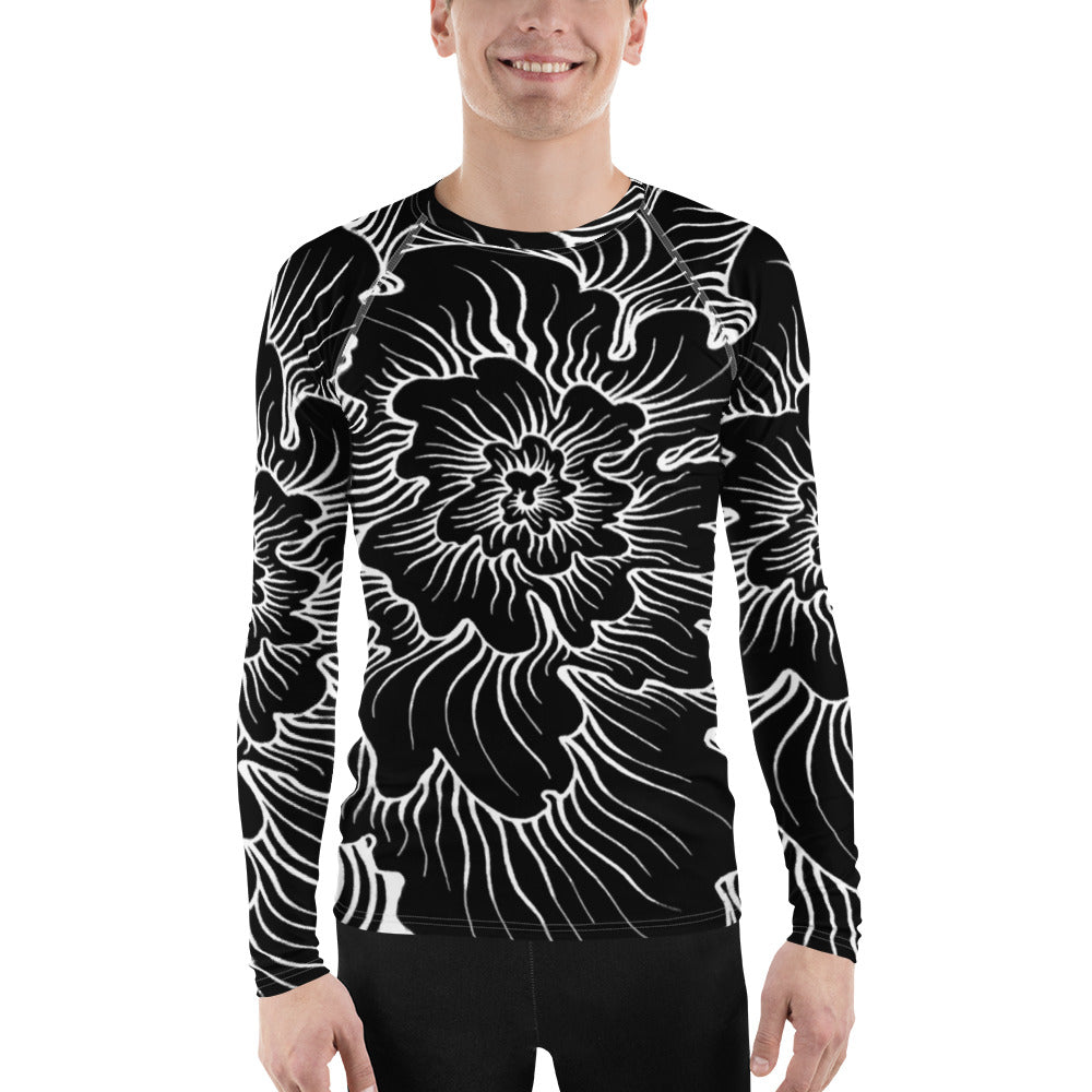 "Static Thought Flower Men""s Long Sleeve Tee"