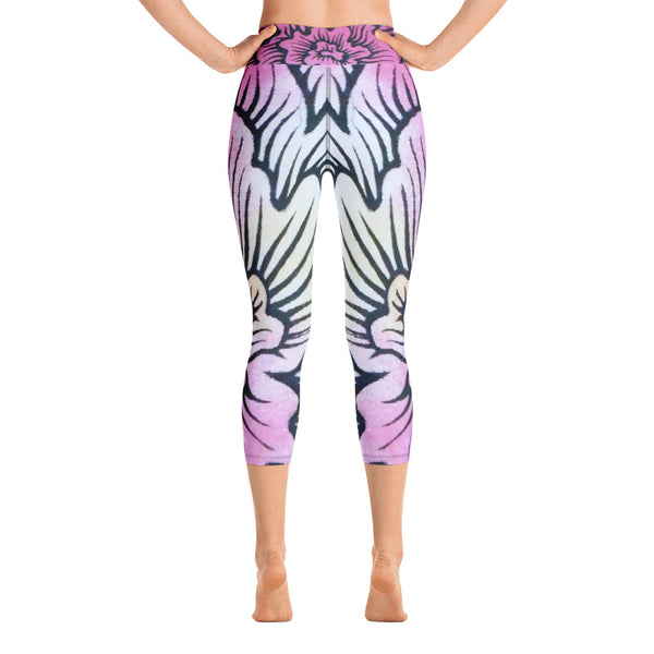 Dynamic Thought Flower #2 - Yoga Capri Leggings