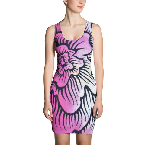 Dynamic Thought Flower #2 - Sublimation Cut & Sew Dress