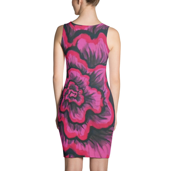Dynamic Thought Flower #3 - Sublimation Cut & Sew Dress