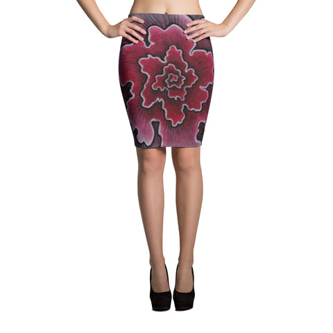 Dynamic Thought Flower - Pencil Skirt