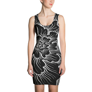 Static Thought Flower -Sublimation Cut & Sew Dress
