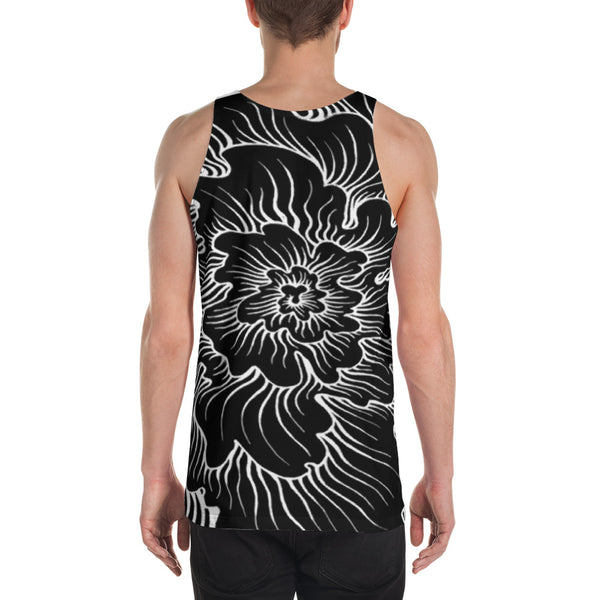 Men's Static Thought Flower Tank Top