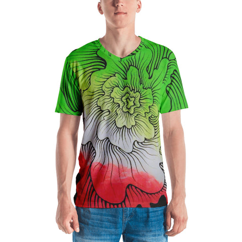 Dynamic Thought Flower # 5 - Men's T-shirt