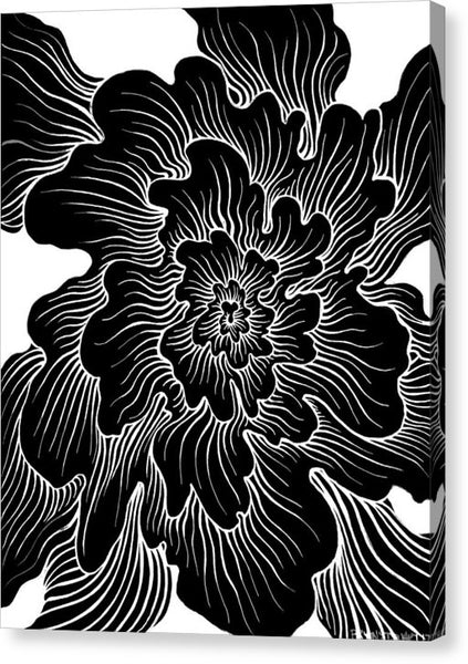 Static Thought Flower - Canvas Print