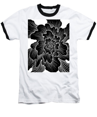 Static Thought Flower - Baseball T-Shirt