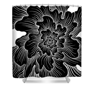 Static Thought Flower - Shower Curtain