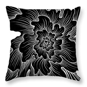 Static Thought Flower - Throw Pillow