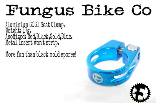 Fungus Bike Co - Seat Clamp - Anodized Blue