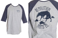 Demolition Alpha 3/4 Sleeve Navy Grey - XXL