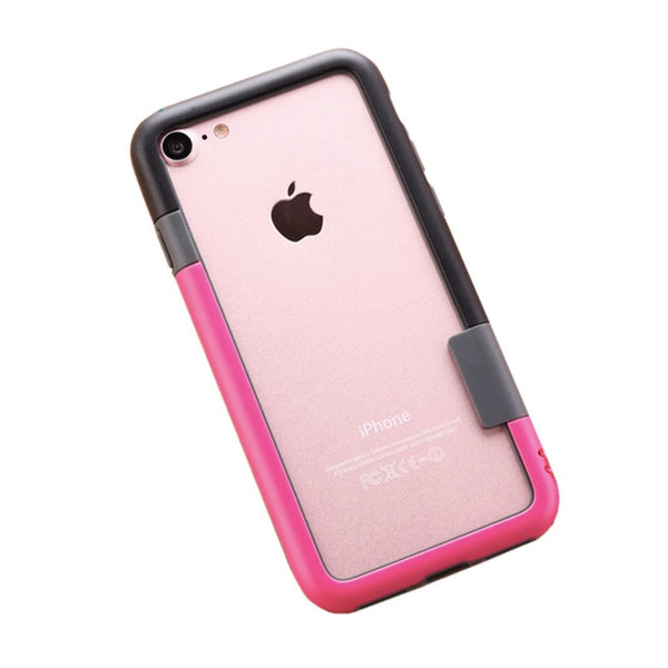 Color Combo iPhone 7Plus Frame Case (Black & Shocking Pink)