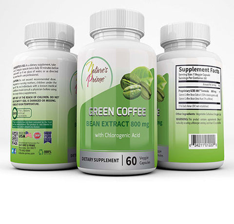 Nature's Prime Green Bean Coffee Extract 800 mg