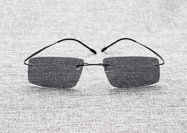 Agent Smith Style Polarized Sunglasses with Titanium Memory Frames