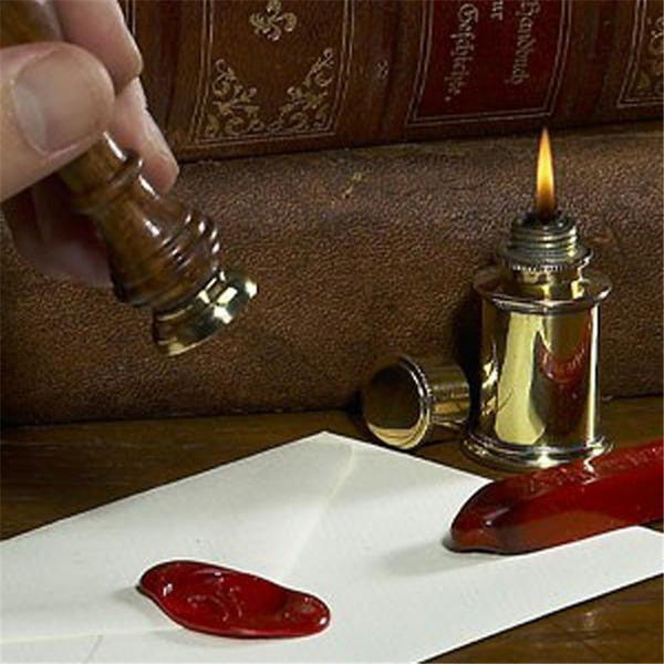 Stationery wax sealing stamp - with words