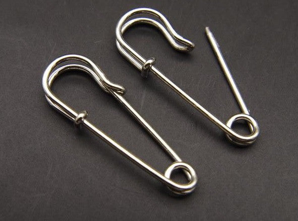 Punk / Goth style safety-pin Earrings - promo offer