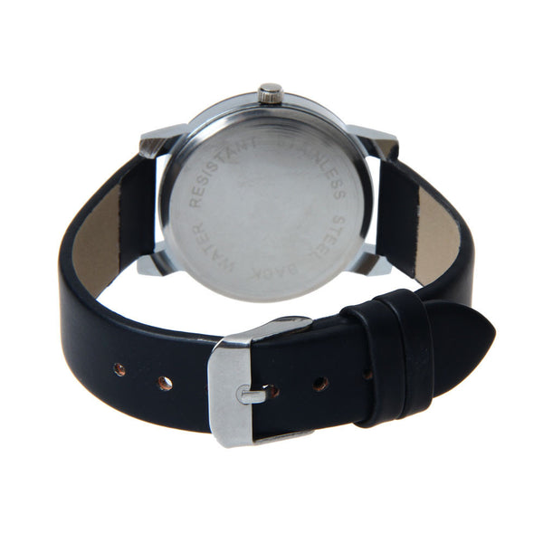 Ladies leather Wristwatch with mesh bracelet