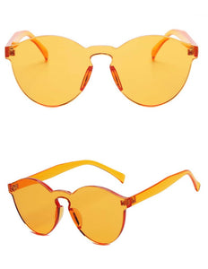 Multicolor Transparent Sunglasses