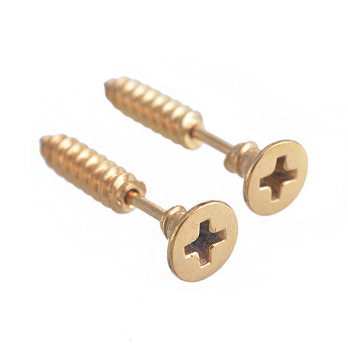 Steampunk / Goth Screw design earrings
