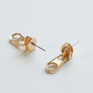 Punk style Zipper Womens Stud Earrings