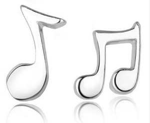 Womens Musical note earrings