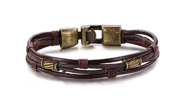 Mens Genuine Leather bracelet