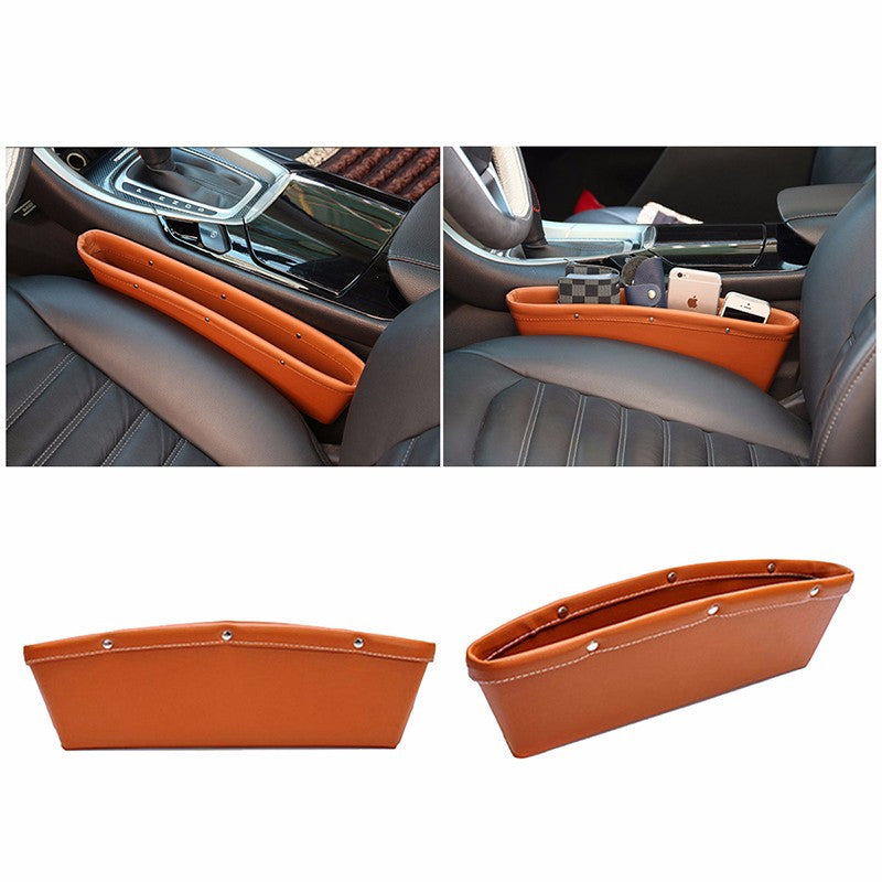 Car Seat Console pocket holder, quality leather