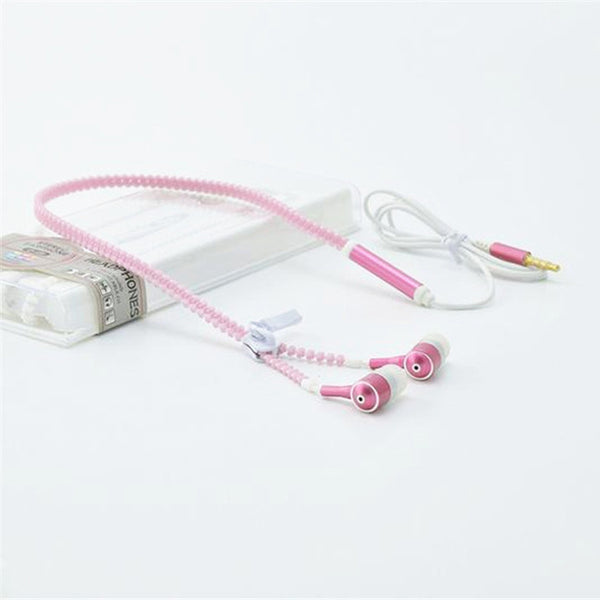 Zipper style Headphones with glowing cable