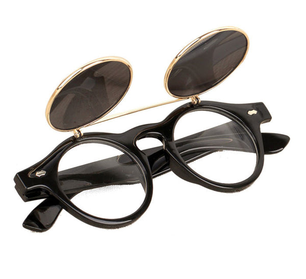 Steampunk / Goth Sunglasses with Flip-Up design feature