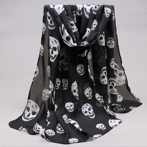 Skull Pattern Neck Scarf