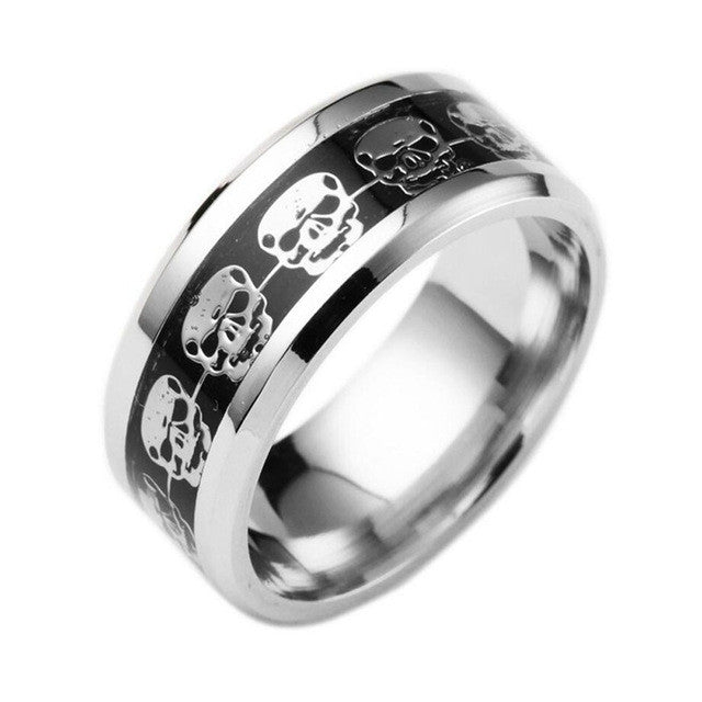 Hardened Steel Skull Emblem Ring - Promo Offer