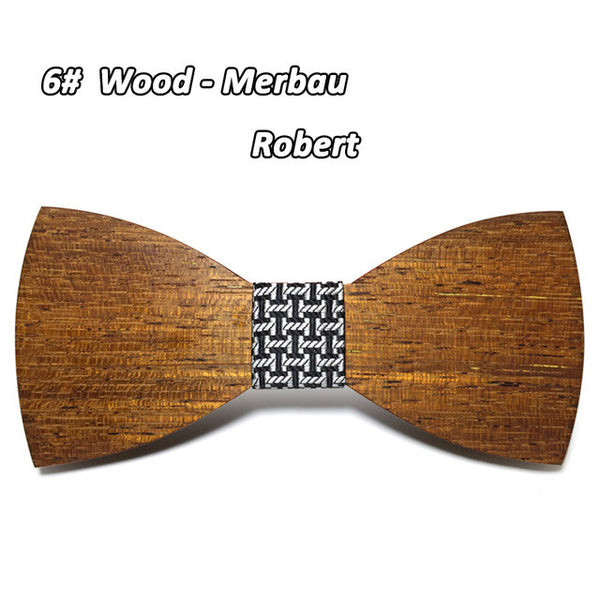 Solid Wooden Bow Tie