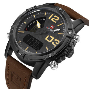 Mens Army style Analog & Digital watch