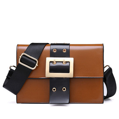 Shoulder bag with trendy buckle design hasp