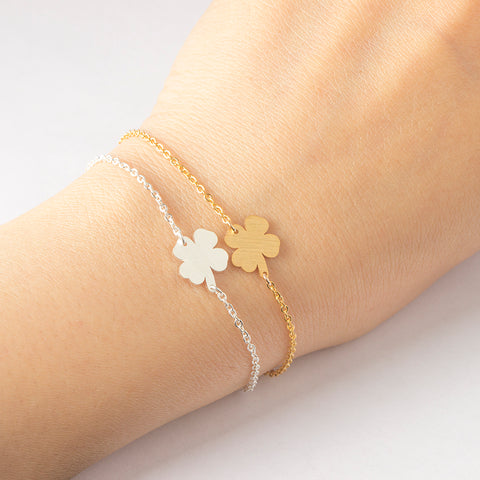 Stainless Steel Irish Shamrock Bracelet / Anklet