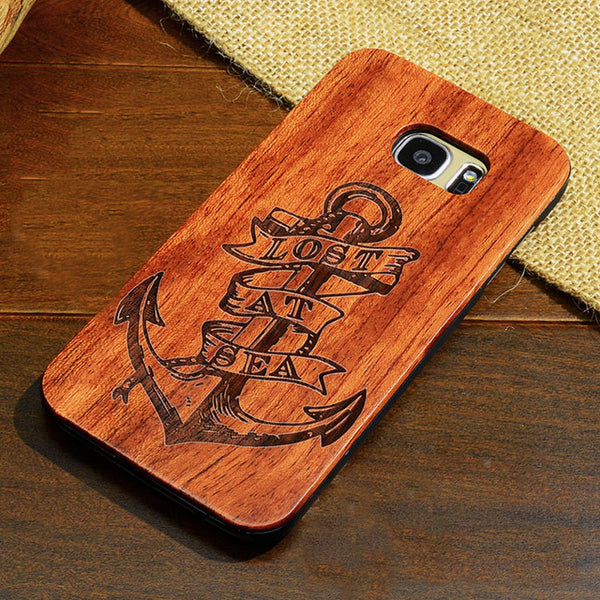 Wood Case with PVC Shell for Samsung Phones